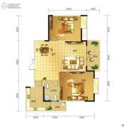 春天印象二期2室2厅1卫82平方米户型图
