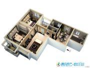 宿迁中央广场3室2厅2卫153平方米户型图