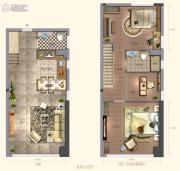 阳光城・大都会3室2厅2卫50平方米户型图