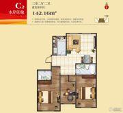 王老太君悦湾3室2厅2卫142平方米户型图