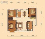 伊水湾3室2厅1卫127平方米户型图