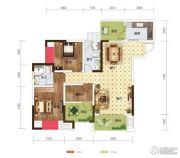 世茂茂悦府2室2厅2卫82平方米户型图
