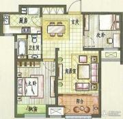 新城香溢紫郡2室2厅1卫83平方米户型图