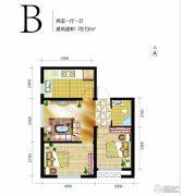 高远时光城2室1厅1卫78平方米户型图