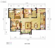 锦汇城3室2厅2卫106平方米户型图