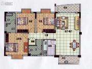 星悦蓝湾3室1厅2卫114平方米户型图