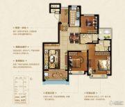 恒大悦珑湾3室2厅2卫117平方米户型图