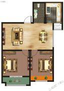 千玺�吩�2室2厅1卫88--92平方米户型图