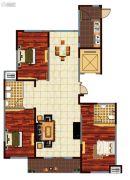 鸿泰・花漾城3室2厅2卫168平方米户型图