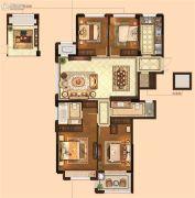 金麟府4室2厅2卫133平方米户型图