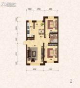 建龙・班芙小镇2室2厅1卫93平方米户型图
