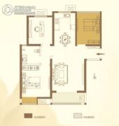 华泰・玉景台3室2厅1卫109平方米户型图