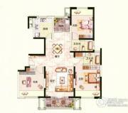 中环国际公寓三期3室2厅2卫140平方米户型图