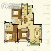 恒大山水城3室2厅2卫113平方米户型图