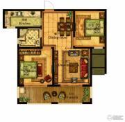 合力・铂金公馆2室2厅1卫90--91平方米户型图