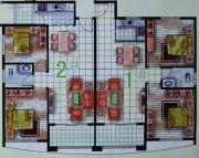 春天海景2室2厅2卫76--85平方米户型图
