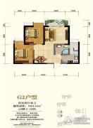 锦丽花语2室2厅1卫0平方米户型图