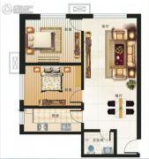 海鸿居然之家2室2厅1卫91平方米户型图