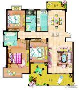东安明珠3室2厅2卫130--145平方米户型图