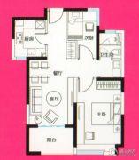 骏丰玲珑坊2室2厅1卫0平方米户型图