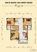 金江星城3室2厅1卫101平方米户型图