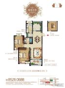 梧桐香郡3室2厅1卫102平方米户型图
