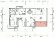 正太广场3室2厅2卫106平方米户型图