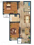 金域蓝湾2室2厅1卫85--87平方米户型图