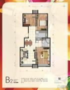 首创・新悦都3室2厅1卫88平方米户型图