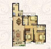 恒大御景湾3室2厅2卫125平方米户型图