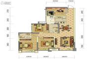 中铁骑士府邸0室4厅2卫90平方米户型图