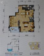 碧海新城2室2厅2卫78平方米户型图