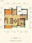 康田紫悦府4室2厅3卫103平方米户型图