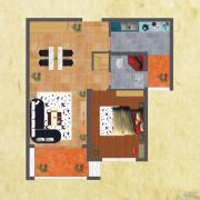 友谊嘉御龙庭1室2厅1卫75--77平方米户型图