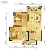春天印象二期2室2厅1卫84平方米户型图