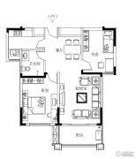 鼓浪屿小镇2室2厅1卫86平方米户型图