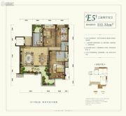 天骄公园3室2厅2卫111平方米户型图