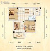 天诚缘3室2厅2卫118平方米户型图