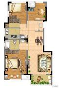 朗诗青春街区3室2厅1卫82平方米户型图