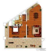 绿城朱家尖东沙度假村1室2厅1卫165平方米户型图