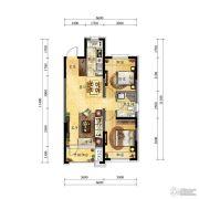 中海国际社区2室2厅1卫79平方米户型图