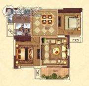 亚坤・帝景豪庭2室2厅1卫84平方米户型图