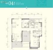 京武・浪琴山2室2厅1卫122平方米户型图