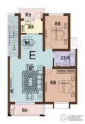 海月名都2室2厅1卫82平方米户型图