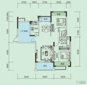 大洋五洲3室2厅2卫95平方米户型图