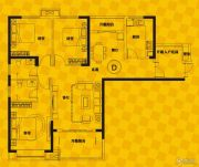恒生・光合城3室2厅2卫132平方米户型图