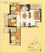 金紫世家3室2厅2卫117平方米户型图
