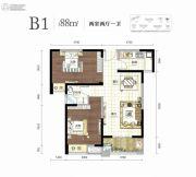 幸福湾2室2厅1卫88平方米户型图