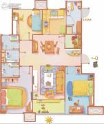 万科・金色悦城3室2厅2卫0平方米户型图
