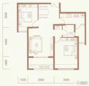 红星国际2室2厅1卫88平方米户型图